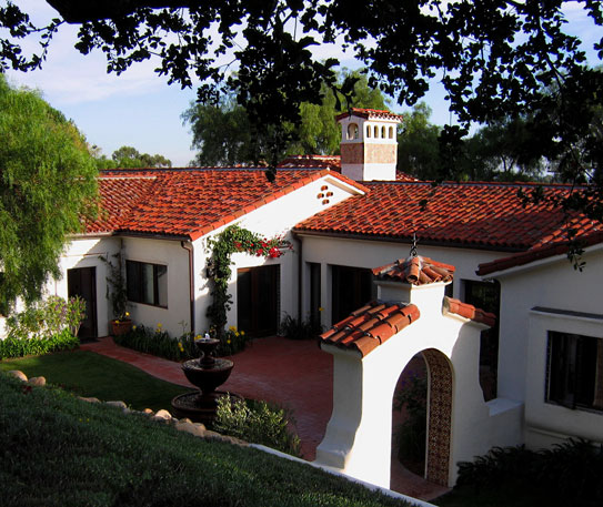 Spanish style homes in Santa Barbara California Designers