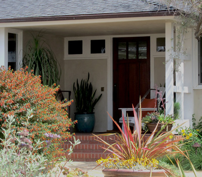 cottage style porch entry porches for California Bungalows