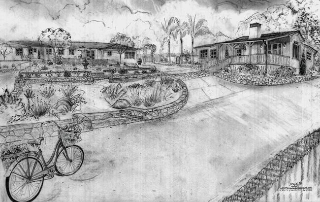 ranch style homes and landscapes renderings drawings