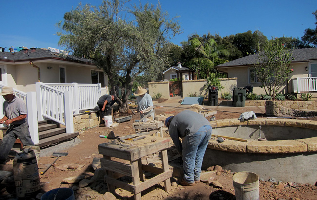 independent stone masons and landscapers santa barbara california
