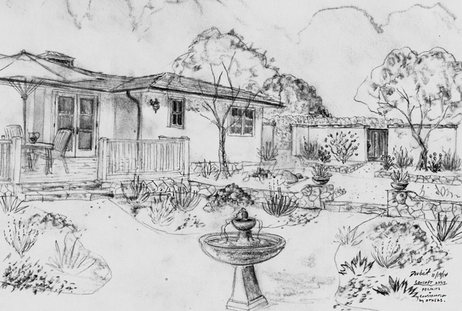 landscape designers in Santa Barbara sketches