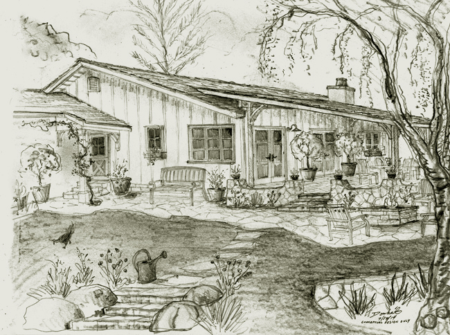 farmhouse design and drawings santa barbara california