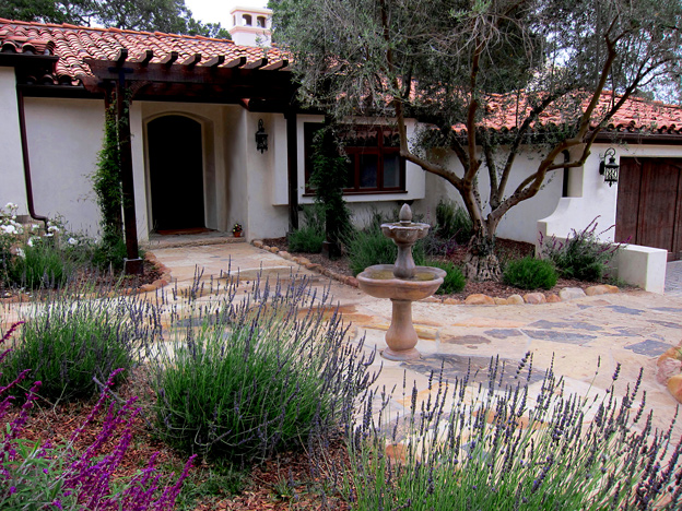 Montecito landscape design for spanish mediterranean style photo