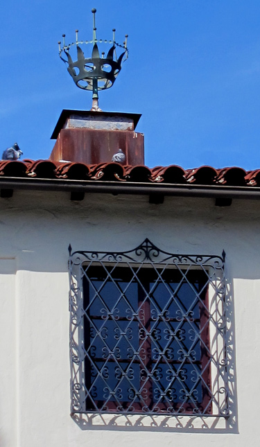 Iron Grilles for spanish style architecture, photos and images in California, Santa Barbara.  Copyright by Jeff Doubet