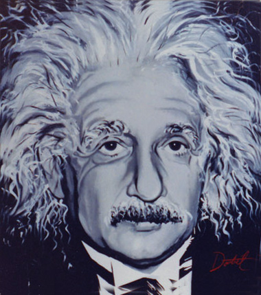 Original Portrait Albert Einstein copyright by Jeff Doubet