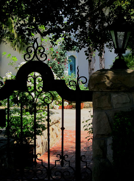 Spanish Style wrought iron gate