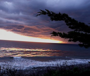 beautiful storm beach photos in America, Califonia Santa Barbara beach.  Copyright by Jeff Doubet