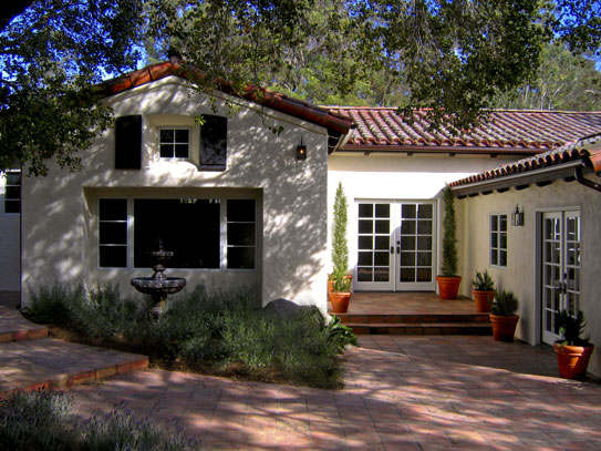 Spanish style home santa barbara house design plans for Barbara house