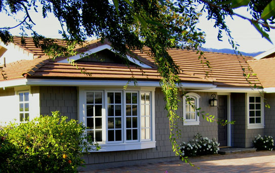 Santa Barbara Cottage with Arched Window