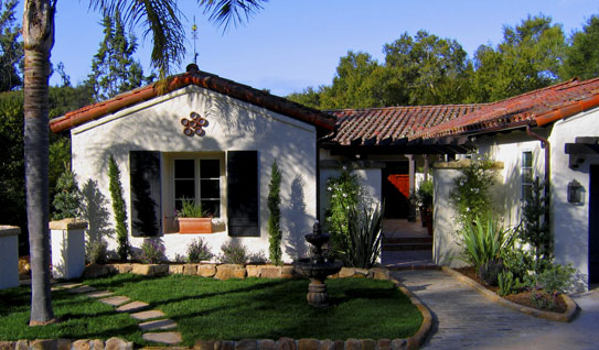Santa barbara home design before and after project photos for Spanish style prefab homes