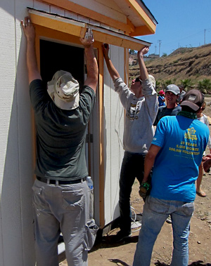 building for good causes in Mexico by Santa Barbara, Ventura and Montecito work teams