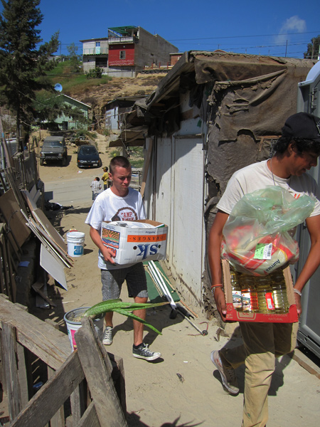 Food packages delivery Homes of Hope