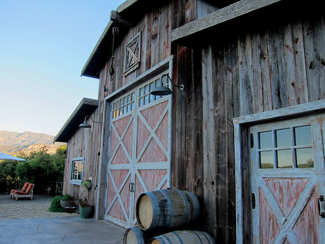 reclaimed barn wood projects in California wine country