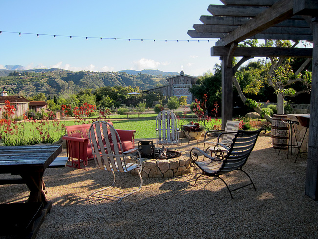 Casual and informal outdoor spaces in california wine country santa barbara