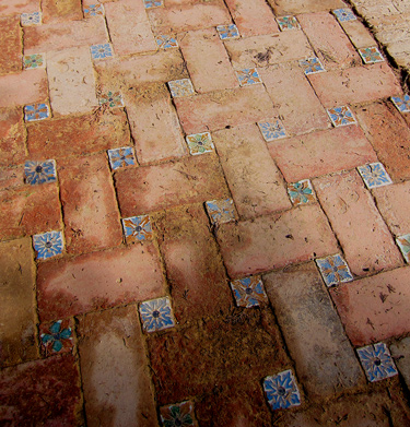 authentic Spain brick and tile floor patterns, photos and images