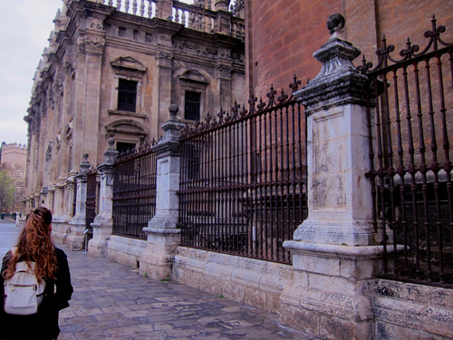 Seville Spain historic walls, columns and architectural details photos and images