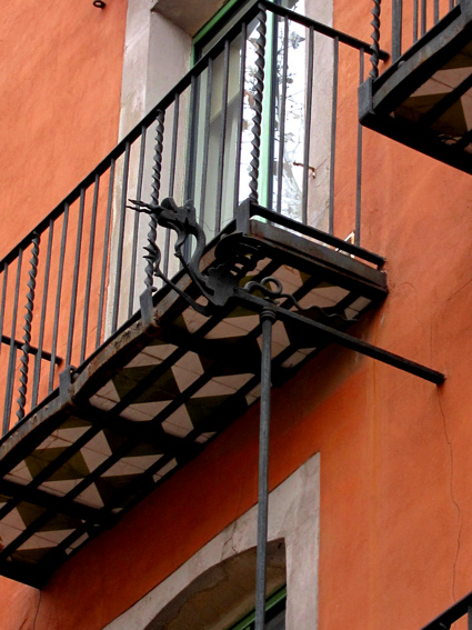Spanish Revival iron balcony with tile details photos and images Spanish style homes