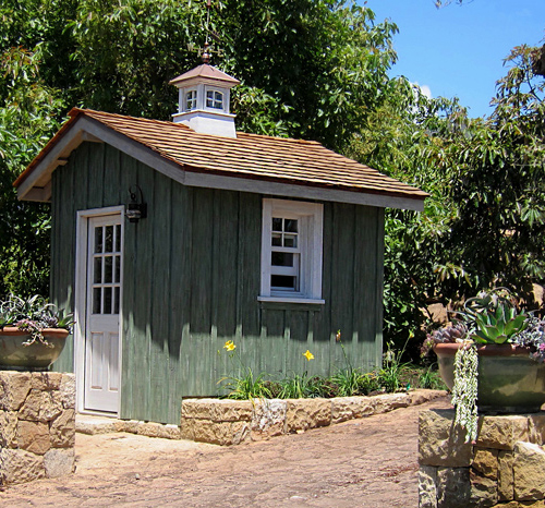 She Shed and He Shed photos, images and information on the highest quality sheds in Santa barbara and montecito California area