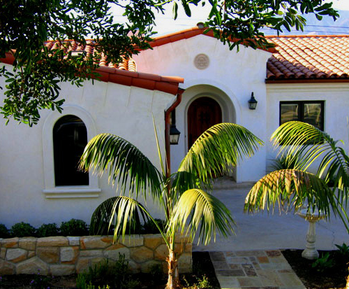 Small Spanish Style Home Designs in Santa Barbara and Montecito California images and photos