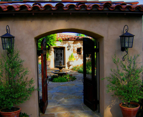 Hacienda style home designs in Santa Barbara and Montecito California