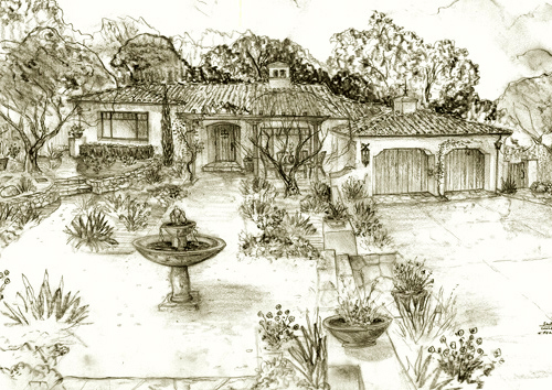 Jeff Doubet Design Renderings, Sketches, Drawings and website information at Santa Barbara Home Designer.com