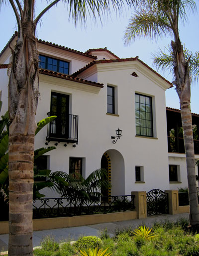 Classic New Spanish Style home designs by Jeff Doubet and Santa Barbara Home Designer