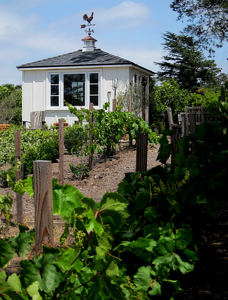 California vineyard outbuilding and garden shed photos Santa Barbara California