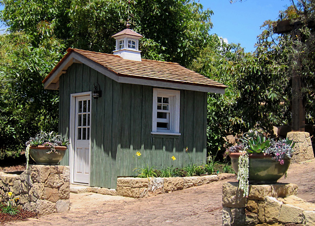 Custom shed designs, photos and images by top local Santa Barbara designers