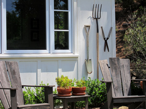 she shed, garden shed and potting shed design photos in Santa Barbara California