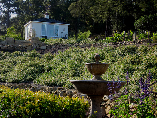 garden house sheds in vineyards in California santa barbara montecito area