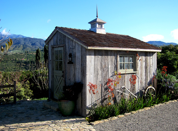 rustic farm style potting shed photos and images in California Santa Barbara