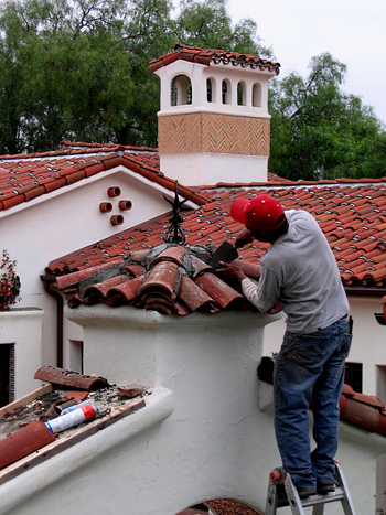 Spanish house roof tile photos and designs