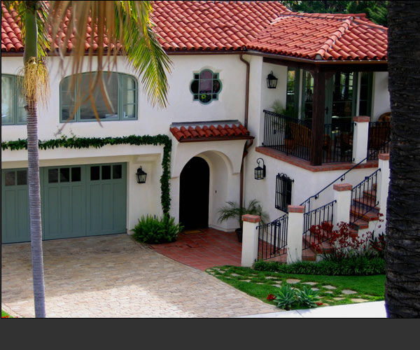 Santa barbara style home designs drawings and concepts by for Santa barbara style house