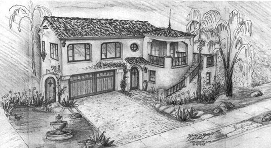 Santa Barbara Style Home Designs  Drawings and Concepts by local    West Beach Spanish Revival Santa Barbara